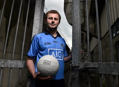 Jack McCaffrey at the launch of AIG's recent Dublin jersey promotion.