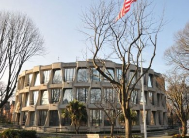 The American Embassy in Dublin 4.