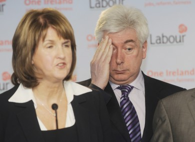 Joan Burton and Alex White are battling it out to become the next Labour party leader.