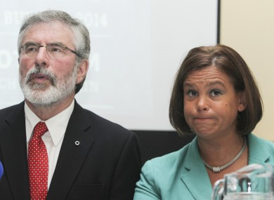 Gerry Adams and Mary Lou McDonald (File photo)