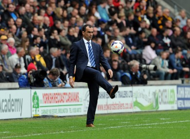 Roberto Martinez has committed his future to the Toffees.