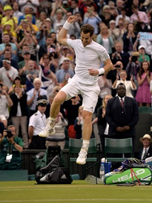 A happy Andy Murray.