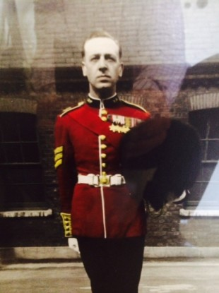 An undated image of the man wearing some of the medals which were stolen