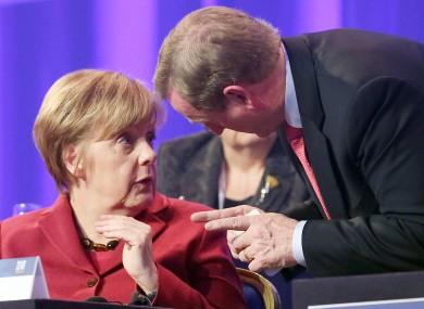 Angela Merkel and Enda Kenny in Dublin earlier this year