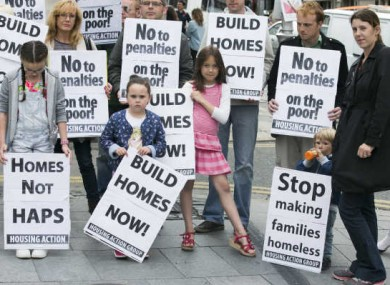 Ballymun residents protesting earlier in the month