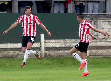 McEleney (left) bagged two for Derry.