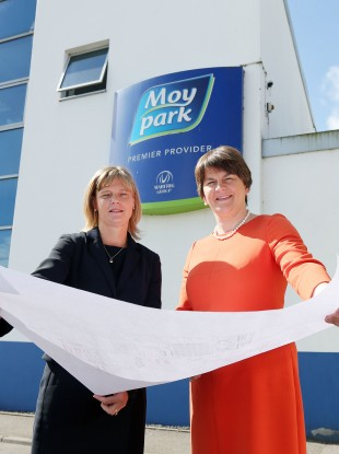 Arlene Foster with Janet McCollum, Chief Executive of Moy Park.