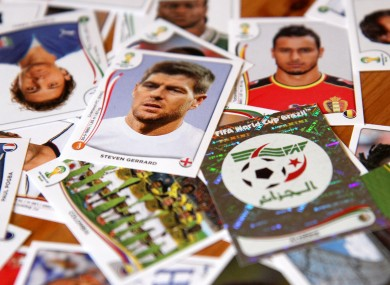 World Cup stickers have long proved popular with football fans.