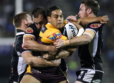 Te'o in Brisbane Broncos' colours back in 2010.