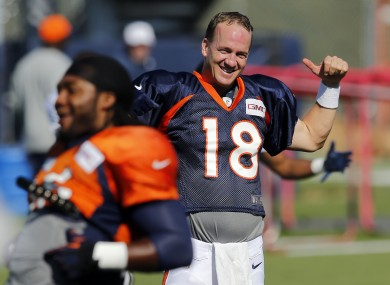Peyton Manning agrees he's likely to go quite early in most drafts.