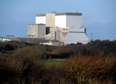 File photo of the Hinkley Point power station on England's west coast.