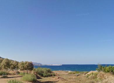 An area of the coast near Kissamos in Crete.