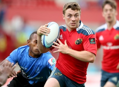 Luke O'Dea's footwork was a constant threat for Munster's Pool C opponents.