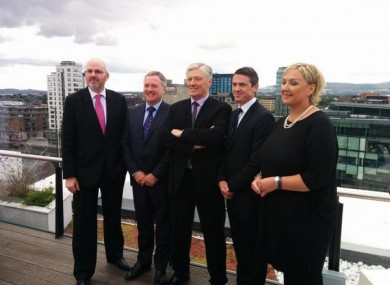 Mary Curtis, far right, at the UTV Ireland launch on 19 August.