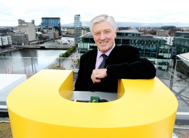 Pat Kenny, having a lean on a giant U.