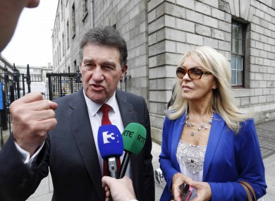 Jackie Lavin and Bill Cullen at the Four Courts to support Michael O'Flynn this week.