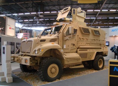 An MRAP like the ones given to American school districts.