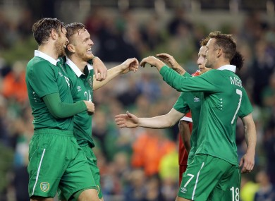 Alex Pearce's second international goal wrapped up Ireland's win.