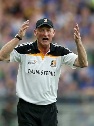 Brian Cody wasn't happy about the referee's decision.