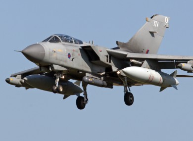 RAF Tornados are 'ready for attack role' says the MoD.