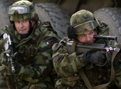 Irish forces on exercises ahead of deployment to the Golan Heights