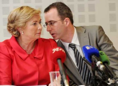Jim Breslin pictured here with the Minister for Justice Frances Fitzgerald
