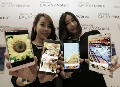 The Galaxy Note 4 and Galaxy Note Edge smartphones