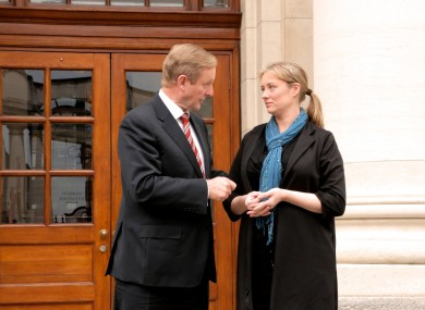 Taoiseach Enda Kenny with Maíria Cahill at Government Buildings last week.