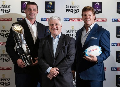 Sky Sports pundits Stuart Barnes, Alan Quinlan and Paul Wallace were at the Guinness Storehouse to promote Sky Sports exclusive live coverage of the Guinness Pro12 match between Leinster and Munster.