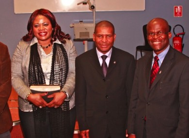 Zephrynus Okechi Ikeh (second from right) at an AIDI event.