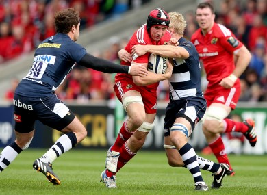 O'Donnell surges into contact at the AJ Bell Stadium last weekend.