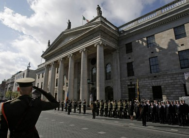 1916 commemoration at the GPO.