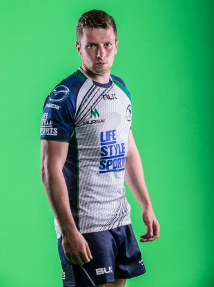 Carty in Connacht's new away jersey.