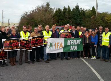 Protestors at Kerry
