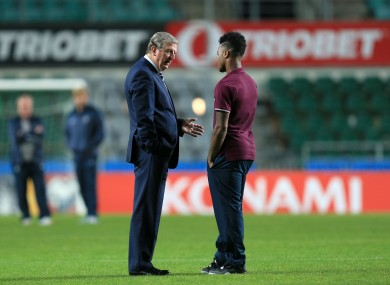 Sterling told Hodgson he was tired before last night's game.