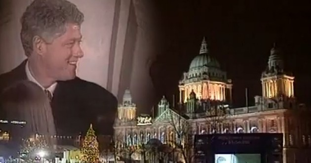 Bill Clinton turned on the Belfast Christmas lights 19 years ago today