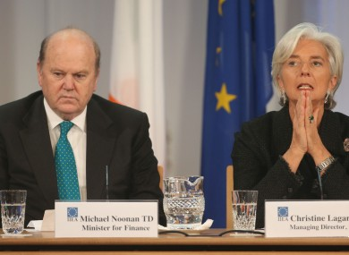 Finance Minister Michael Noonan and then IMF Managing Director Christine Lagarde in 2013.