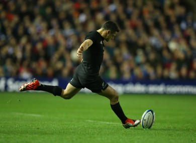 Dan Carter returned to the All Blacks starting line-up for the visit to Scotland.