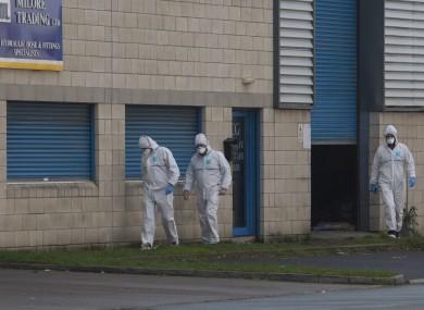 Garda forensic investigators at the scene in Parkwest.