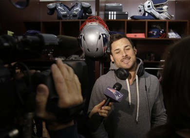 Patriots wide receiver Danny Amendola speaks to the press this week.