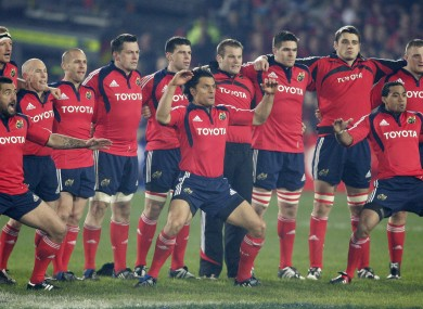 The spontaneous Munster haka set to tone for what was a classic game.