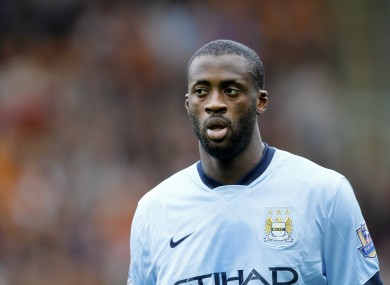 Manchester City's Yaya Toure was subjected to racist abuse by fans of CSKA Moscow during a Champions League match last season