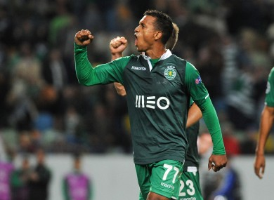 Nani is currently on loan at Sporting Lisbon.