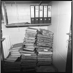 Files and prisoner medical records at the RUC station.<span class=