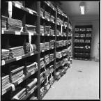 Shelves of prisoner records.<span class=