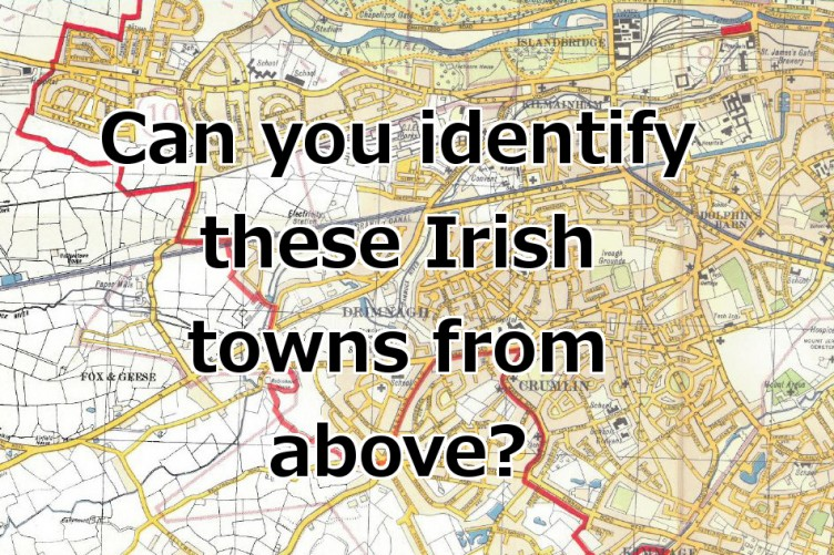 Map Of Ireland Quiz.Quiz Can You Identify These Irish Towns From Above Thejournal Ie