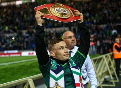 Frampton: Hand injury delayed his first title defence.