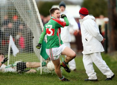 Cian Hennessey celebrates his goal.