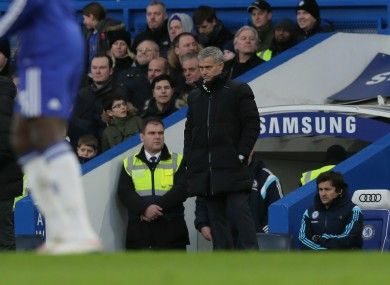 Jose Mourinho watches on during his side's FA Cup tie at the weekend.