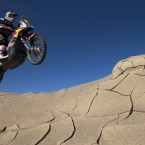 KTM rider Ruben Faria races during the sixth stage of the Dakar Rally.<span class=